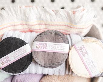 CHOOSE YOUR COLOUR Facial rounds | MakeuP Remover | Facial ToweL | Flannel Scrubby | SofT Scrubbies | Cotton RoundS | Makeup Wipes