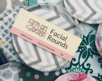 Assorted Facial rounds | Makeup Remover | Facial Towel | Flannel Scrubby | Soft Scrubbies | Cotton Rounds | Makeup Wipes | Reusable Face Pad