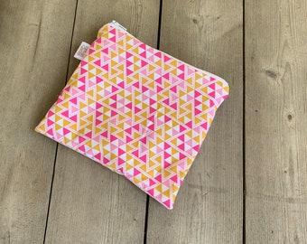 Reusable Snack Bags | Reusable Lunch Bag | Reusable Sandwich Bag | Zippered Bag | Zipper Pouch