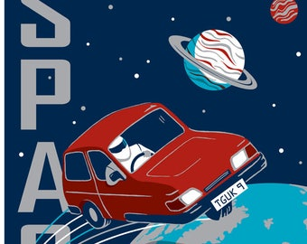 TOP GEAR Tour Space Limited Edition Print