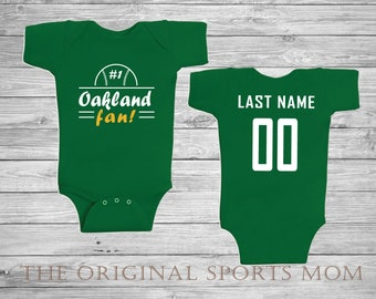 ae4dba717 Personalized Okland Athletics Jersey-Style Baby One Piece Bib! New  York Baseball A s. Perfect as a Babyshower Gift!