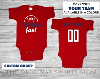 0130b8d0f Custom Personalized Baby s Baseball Jersey-Style One Piece Bib!  Sports Baseball - Perfect Gifts Babyshower Birthday!