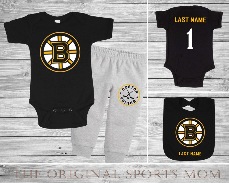 3pc Personalized Boston Bruins Jersey