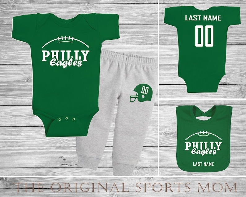 3pc Personalized Philadelphia Eagles Jersey Style One   Etsy