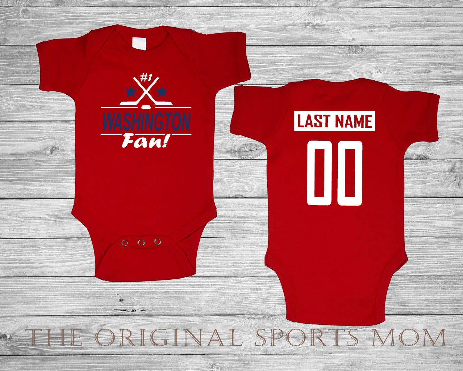 8686a60e Personalized WASHINGTON CAPITALS Jersey Style Baby One   Etsy
