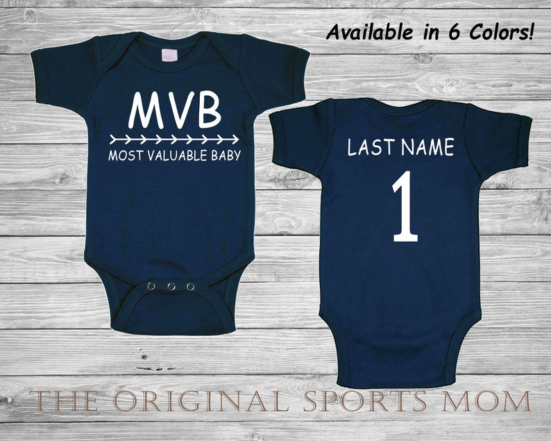 c3b6b970aaa74 Personalized MVB Most Valuable Baby - Baseball One Piece/Bib!  Sports/Baseball/Jersey/Bib! Great as Baby Shower Gifts/Baby to Come Home In!