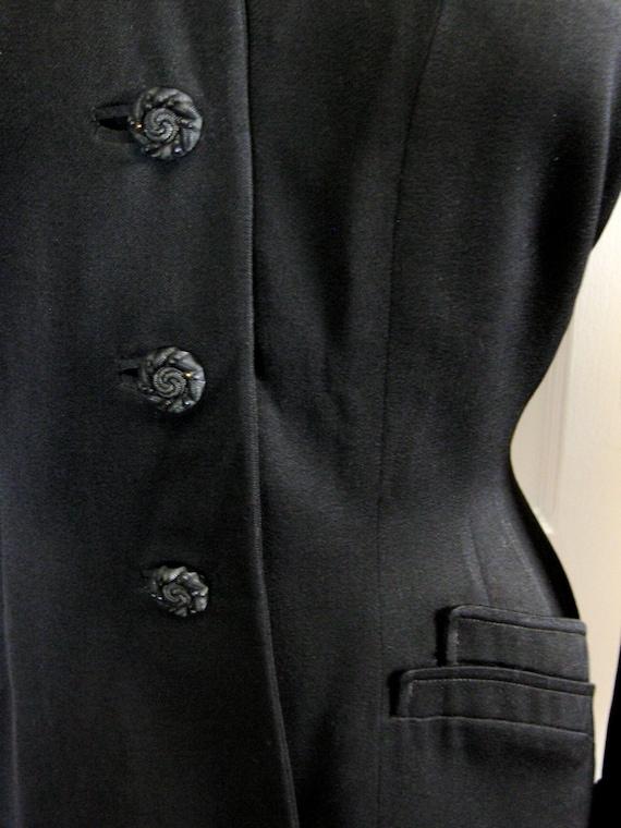 1940's Wool Gabardine Tailored Jacket - image 2