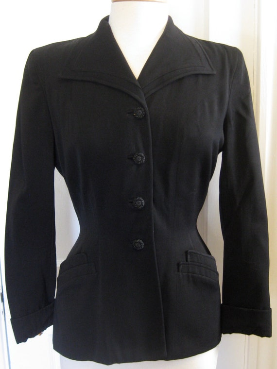 1940's Wool Gabardine Tailored Jacket
