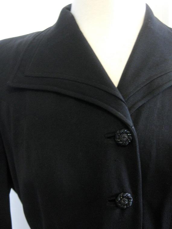 1940's Wool Gabardine Tailored Jacket - image 4