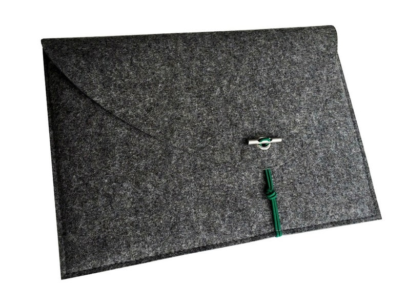 grey MacBook 13 sleeve felt protection for tablet with image 0