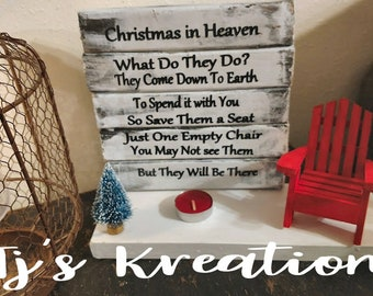 more colors christmas in heaven chair