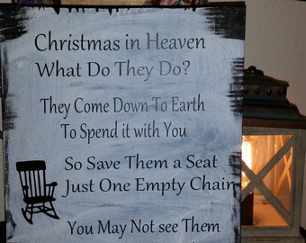 A Beautiful Christmas In Heaven sign