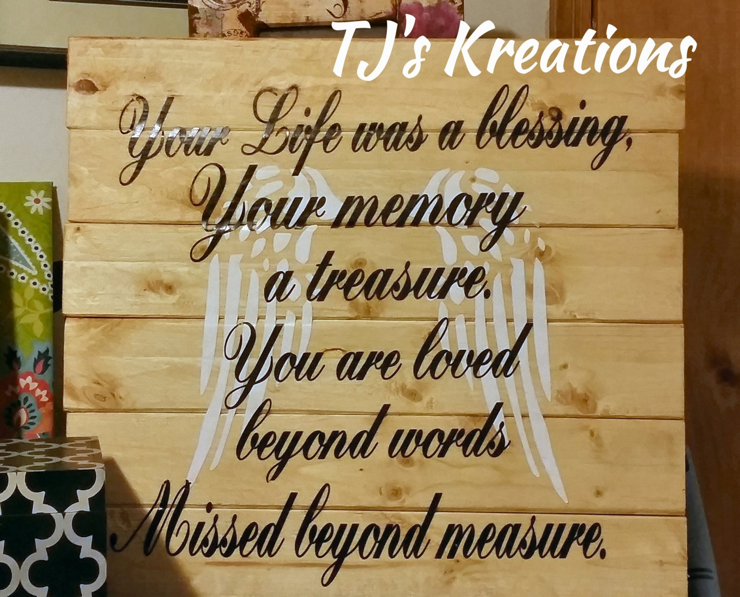Your Life was a blessing your memory a treasure you are loved | Etsy