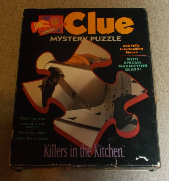 Clue Killers In The Kitchen Mystery Jigsaw Puzzle Game New Etsy