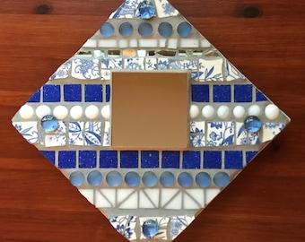 BLUE HEAVEN Mosaic Mirror Wall Hanging
