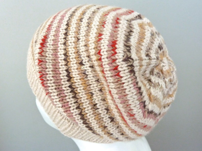 a2d7971a763 Merino wool beanie. Hand knit hat. Girls slouchy beanie hat.