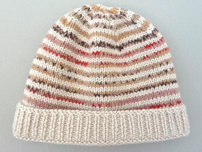 b972e64e78c7 Merino wool beanie. Hand knit hat. Girls slouchy beanie hat.