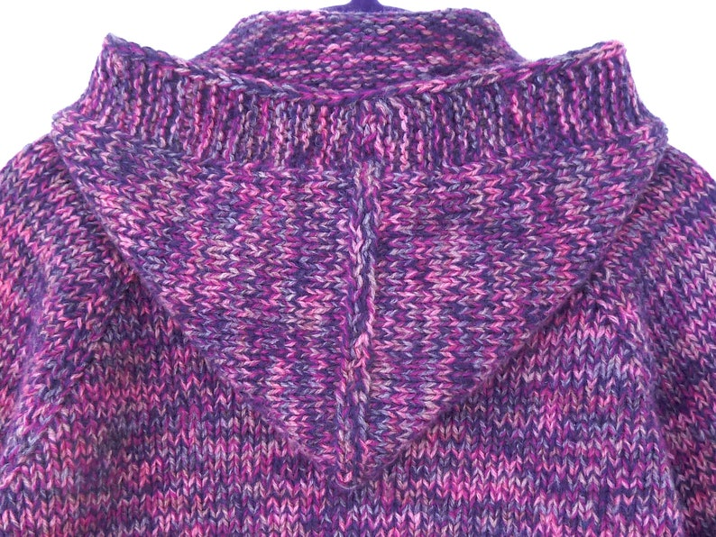 62bf222f299a Purple lambswool cardigan. Baby girl hoodie. Knit baby