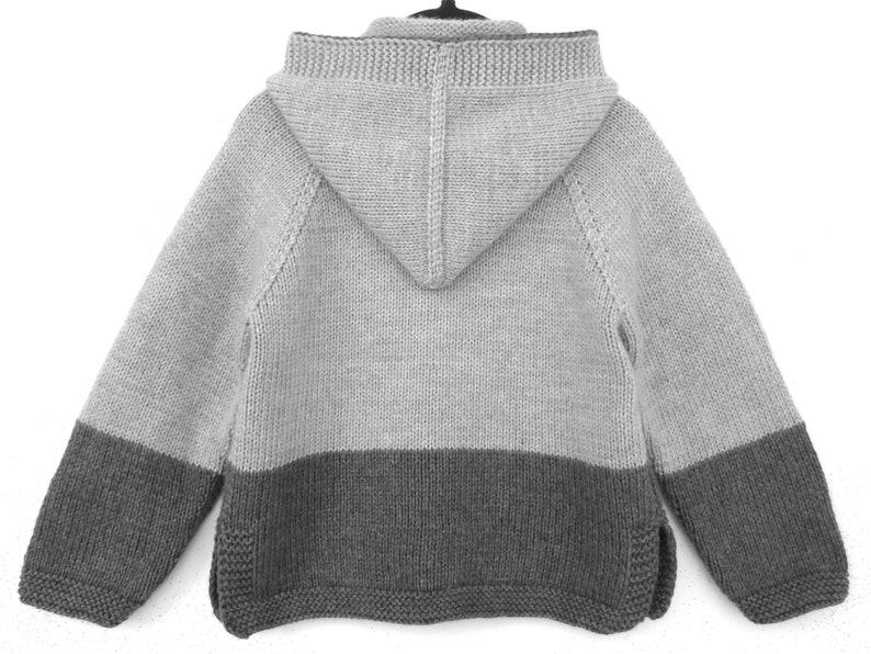 127417b94a9c Baby sweater cardigan hoodie. Merino wool jacket with hood.