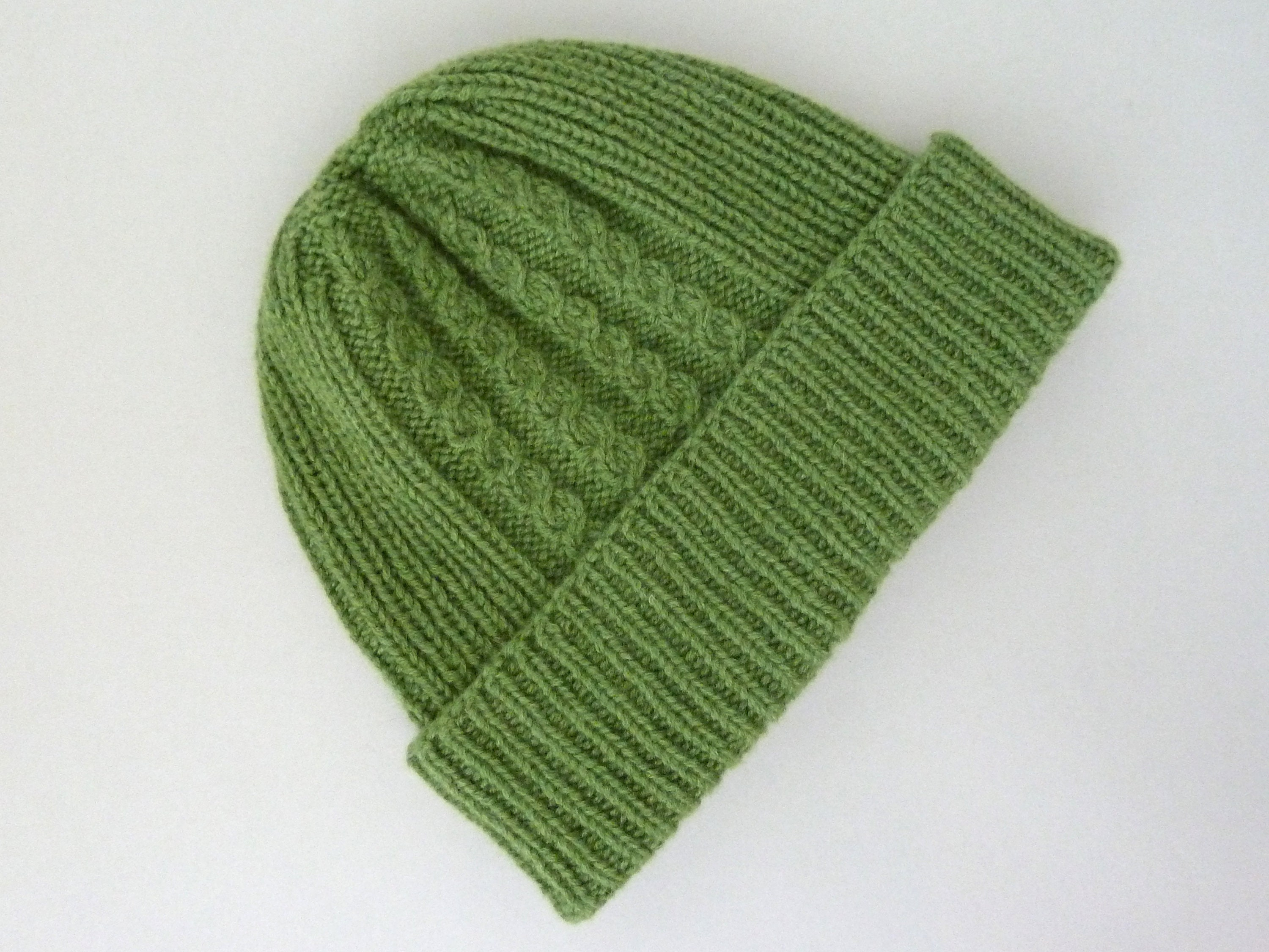 92c20d235ee3 100% cashmere hat for men. Hand knit ribbed beanie with cable