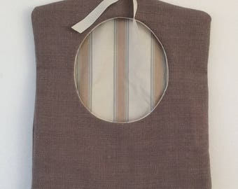 Brown Clothes Pin Bag, Peg Bag, Housewarming Gift, Birthday Gift, Gift for the Home, Gift for Him, Gift for Her