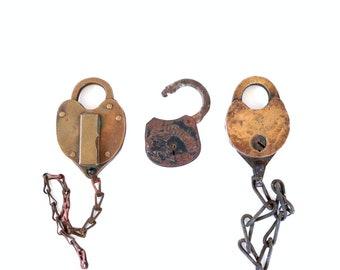Old Padlocks . vintage padlocks . industrial lot . old lock . vintage lock . lot of padlocks . rusty metal . rusty locks rusty padlocks #101