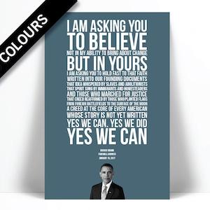 barack obama 2017 farewell address obama quote classroom art presidential speech political art american history teacher gift