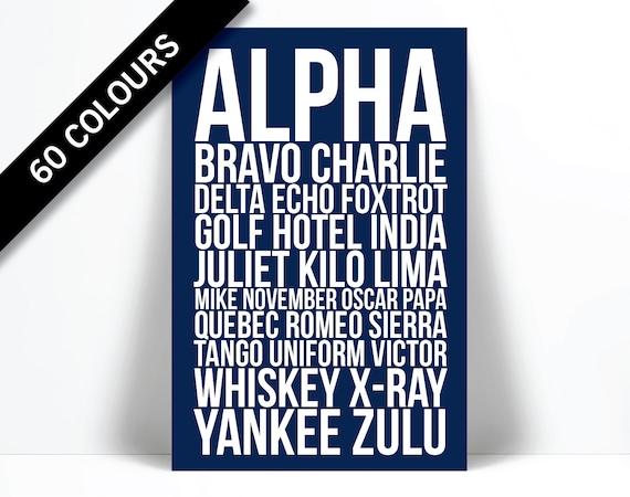 Alpha Bravo Charlie Art Print Phonetic Alphabet Poster Etsy