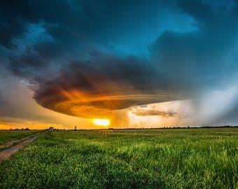 Weather Pictures, Storm Wall Art, Landscape, Photography, Wall Art Photography, Storm Photography, Oklahoma Landscape, Storm Picture, Print