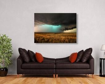 Landscape Metal Art, Storm Metal Art, Texas Metal Print, Pictures On Metal,  Metal Landscape, Picture Metal, Texas Home Decor, Texas Wall Art