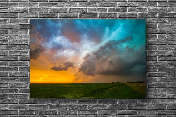 Aluminum Print of Scenic Storm Over Great Plains in Eastern Colorado Prairie Weather Decor 8x10 to 24x36 Western Photography Metal Wall Art