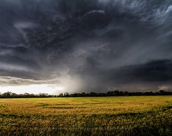Kansas, Storm Print, Pictures, Rain Picture, Nature Photography, Nature Print, Rain Photography, Kansas Rain Photo, Sky Cloud Art, Rain Art