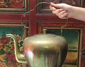 Vintage Large Brass Chinese Teapot