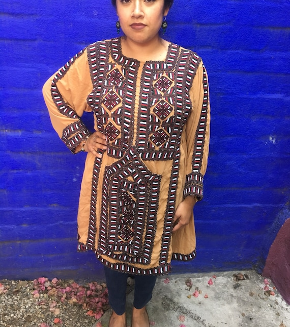 Vintage Embroidered Baloch Afghanistan Dress Tunic