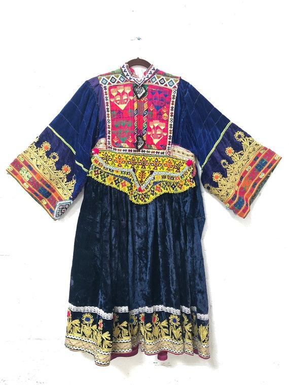 Vintage Afghan Kutchi Handmade Hand-embroidered Ve
