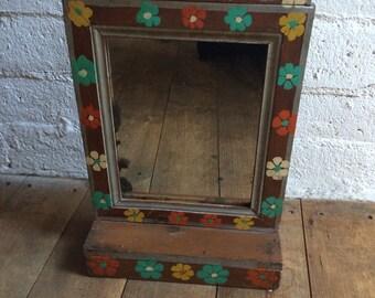Vintage Handpainted Indian Mirror