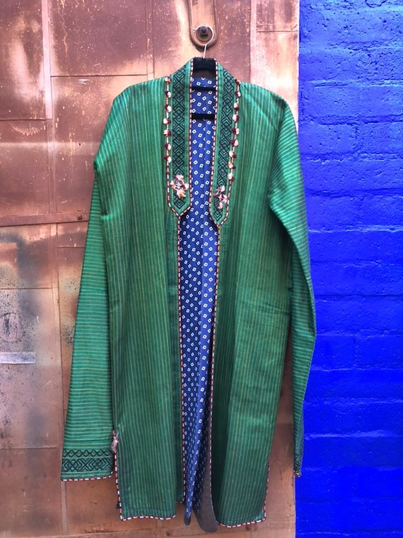 Vintage Exotic Emerald Green Coat