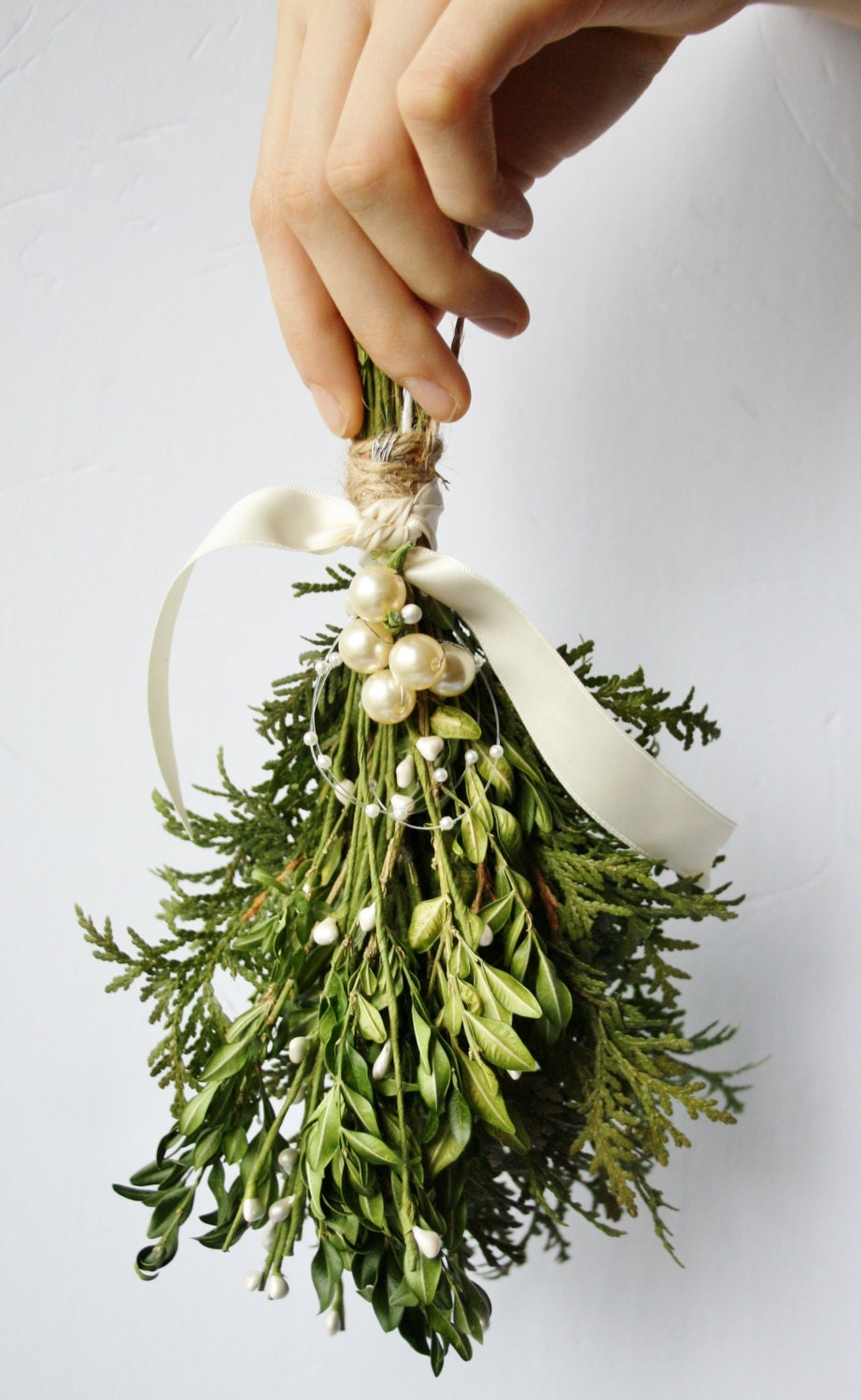 Mistletoe kissing ball christmas decor winter wedding decor etsy