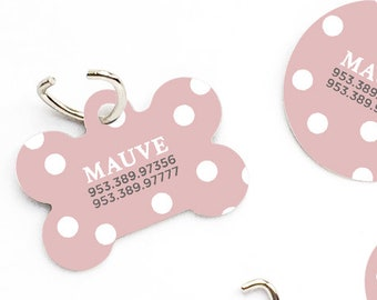 3e9f0307f85c Pet ID Tag Polka Dots Custom Pet Tag Personalized Dog Tag Mauve Pink Pet  Tag Dog ID Tag Pink Small Dog Pet Tag Puppy Tag Dog ID Pet Tag 161.