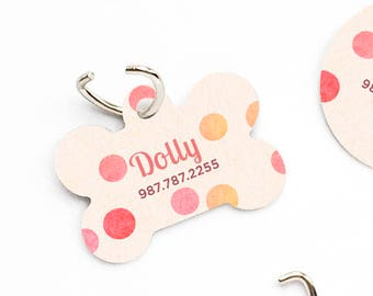 Dog Collar Tag Dog Tags for DogsPolka Dots Dog ID Tag Dog Tag Dog Tags for Small Dogs Pet Tags Pet Gift Pet ID Tags Pet ID Tag Dog 136.