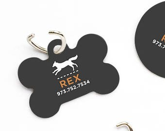 Dog Collar Tag Dog Tags for Dogs Dark Charcoal Dog ID Tag Dog Tag Dog Tags for Small Dogs Pet Tags Pet Gift Pet ID Tags Pet ID Tag Dog 86.