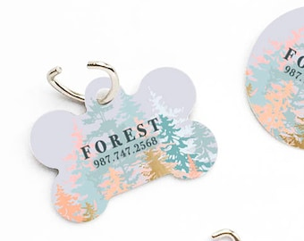 2f191d47cde2 Forest Dog Tag Custom Pet Dog Tag Personalized Dog Tag Blush Forest Pet Tag  Dog ID Tag Forest Pet Tag Puppy Tag Dog Pet Tag 61.