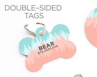 4001d32cd3b3 Blush Forest Dog Pet Dog ID Tag Custom Pet Tag Personalized Dog Tag Forest  Pet Tag Dog ID Tag Forest Pet Tag Puppy Tag Dog Pet Tag 189.