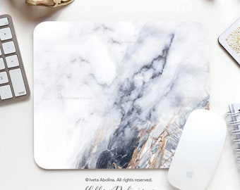 Mouse Pad White Marble Mouse Pad Home Office Mouse Pad Office Mouse Pad Personalized Mouse Pad Desk Accessories Mouse Pad Round Mouse Pad 71