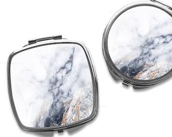 Compact Mirror Purse Mirror Personalized Mirror Travel Mirror Custom Gift Purse Mirror Marble Mirror Bridesmaid Gift Mirror Makeup Mirror 6.