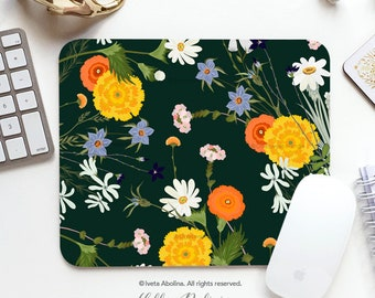 Spring Floral Mouse Pad Mousepad Spring Mouse Mat Floral Mouse Pad Office Mousemat Rectangular Mousemat Floral Print Mousepad Round 88.
