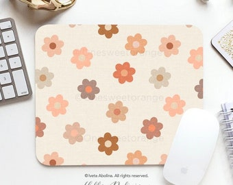 Mouse Pad Terra Daisies Mouse Pad Daisy Mouse Pad Office Mouse Pad Personalized Mouse Pad Desk Accessories Mouse Pad Round Mouse Pad 75.
