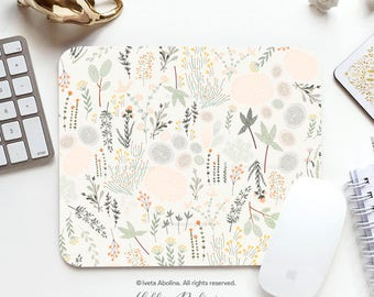 Mouse Pad Mousepad Fall Floral Mouse Mat Garden Mouse Pad Office Mousemat Rectangular Mousemat Flower Mousepad Round 63.