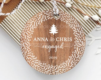 Engagement Ornament Engagement Party Gift Personalized Engagement Gift Custom Engagement Gift with Names Engagement Gift for Couple 211.