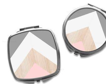Compact Mirror Purse Mirror Personalized Mirror Travel Mirror Custom Gift Purse Mirror Chevron Mirror Bridesmaid Gift Makeup Mirror 2.